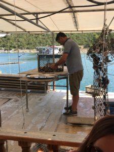 Peipsimaa Horvaatia õppereisi toidu tegemine